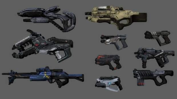 Топ 4 оружия в Mass Effect 2.
