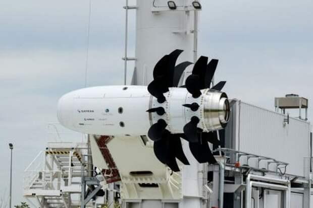 Испытательный образец двигателя с открытым ротором Safran