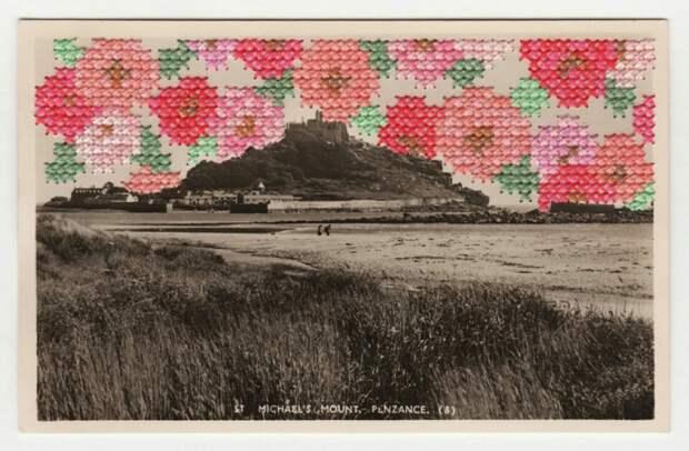 Вышитые открытки (подборка)