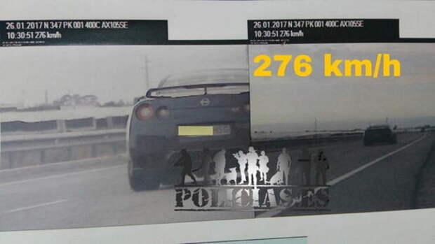 Под триста: лихач на Nissan GT-R дал мастер-класс по превышению скорости