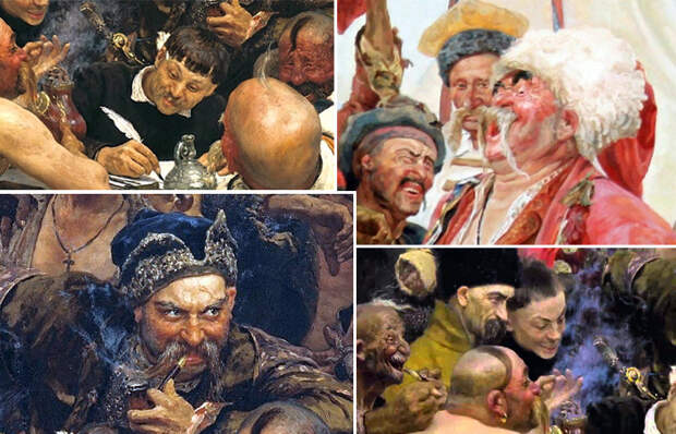Почему Репин изобразил казака на картине без одежды