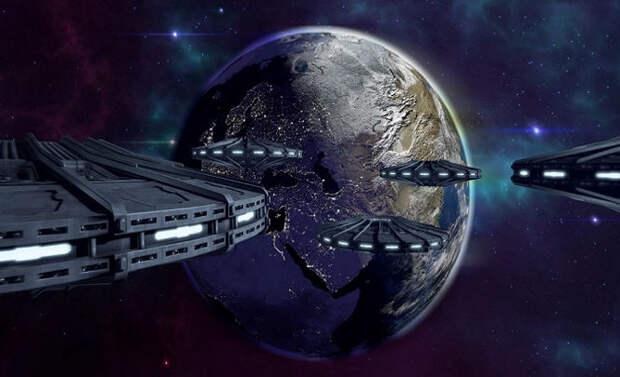 Камера МКС снова запечатлела гигантский флот НЛО