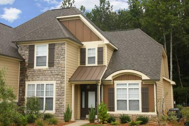 Популярные стильные цвета домов фото 2016