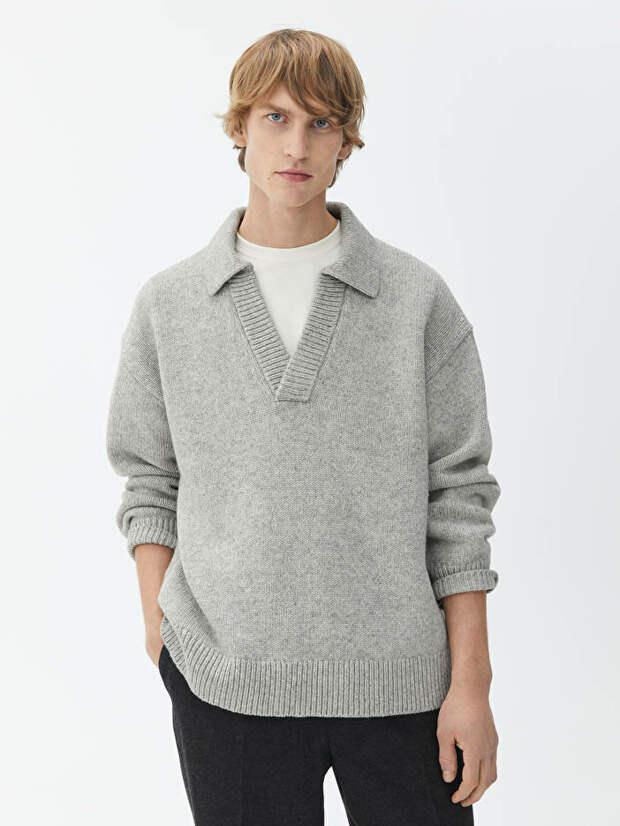 Вязаный тренд : свитера с воротником-поло будут носить весной 21 года