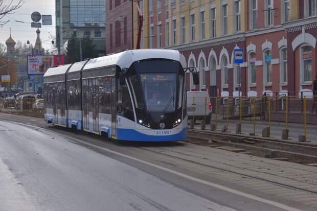 В Строгине появятся новые низкопольные трамваи