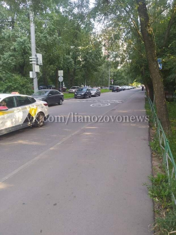 На Хотьковской установили новый дорожный знак