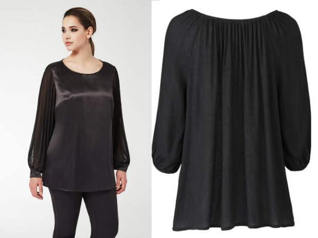 Модные блузки для полных осень-зима 2016-2017 Marina Rinaldi, Simply Be