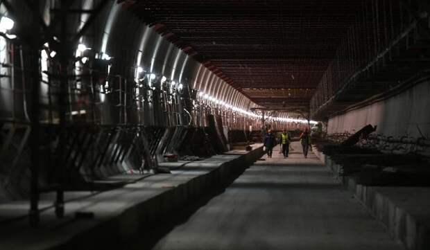 Монолитные конструкции станции «Пыхтино» готовы на треть
