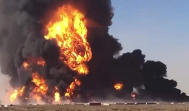 До200 цистерн снефтью игазом уничтожил пожар наафгано-иранской границе
