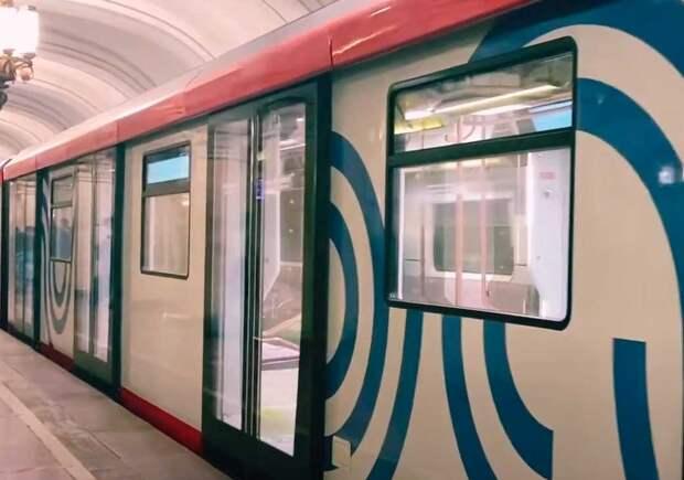 Москва хорошеет. В 2020. Новый поезд столичного метро изнутри и снаружи