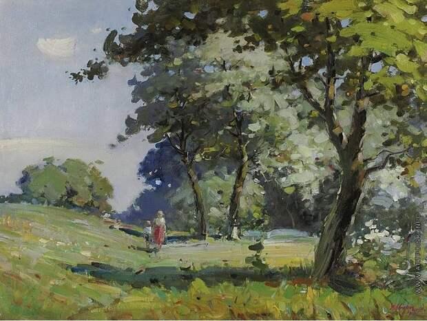 Пейзаж. (1932 год). Автор: Василий Сварог.