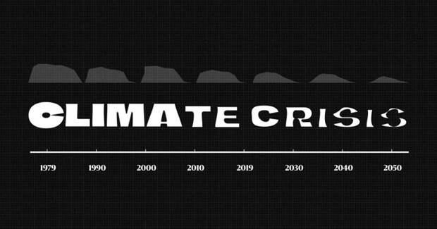 У глобального потепления появился собственный «тающий» шрифт