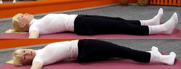 лечебная гимнастика для позвоночника крокодил