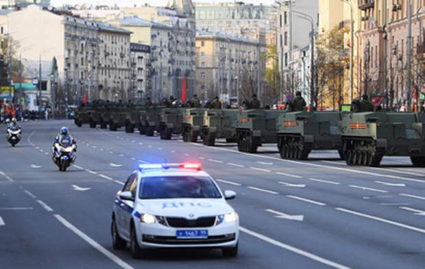 Ряд улиц в Москве перекроют из-за подготовки к Параду Победы
