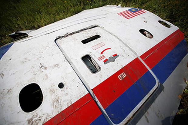 Обломки самолета после крушения