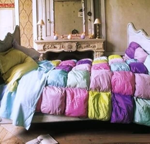 одеяло из подушек