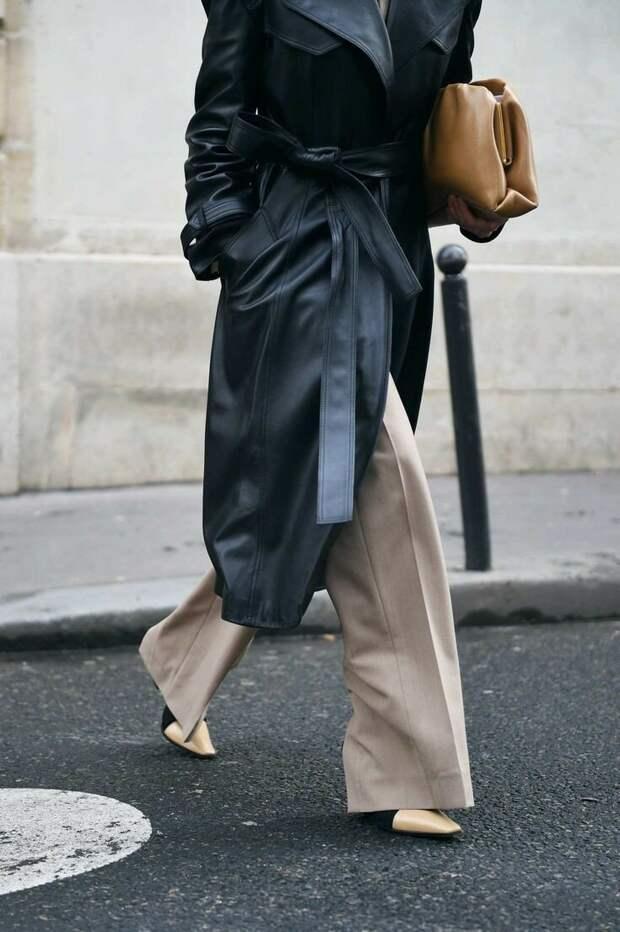Учимся носить широкие брюки стильно!