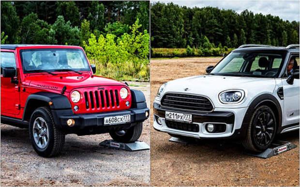 Чей полный привод круче - Mini Cooper Countryman или Jeep Wrangler Rubicon?