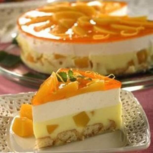 Персиковый чизкейк с цитрусовым желе