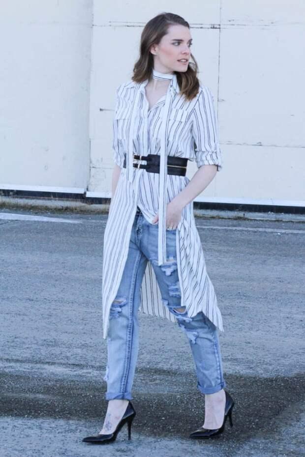Платья с джинсами (подборка)
