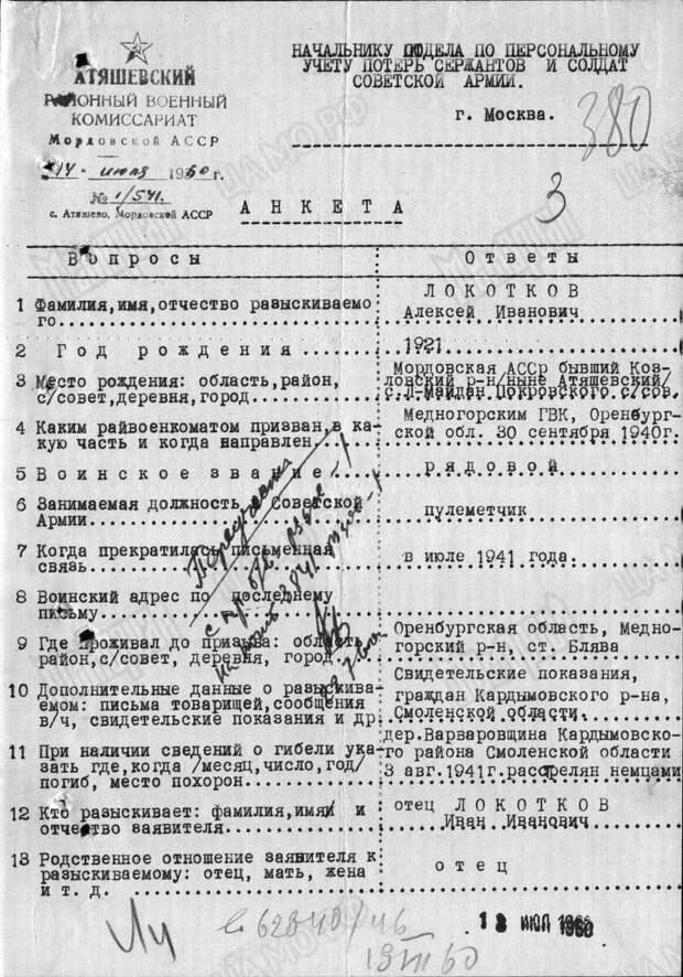 Неравный бой пулемётчика Локоткова.