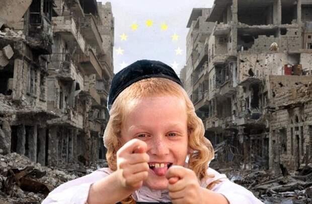 Эталонная евро-хуцпа: Европейские лидеры говорят, что Россия должна оплатить счета за восстановление Сирии