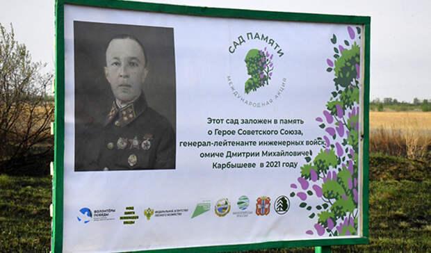 Под Омском появится сосновый бор имени генерала Карбышева