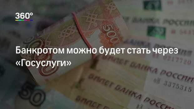 Банкротом можно будет стать через «Госуслуги»