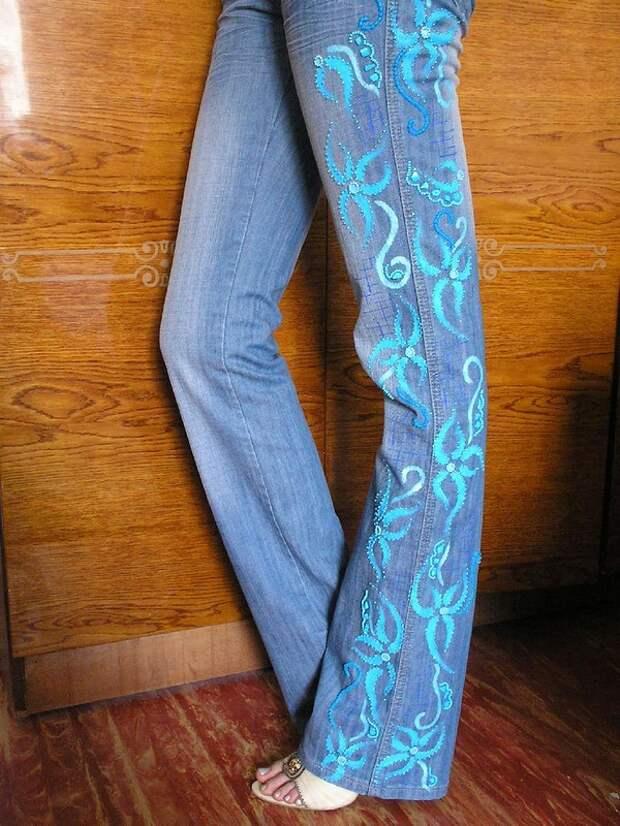 вышивка из бисера на одежде.