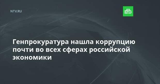 Генпрокуратура нашла коррупцию почти во всех сферах российской экономики