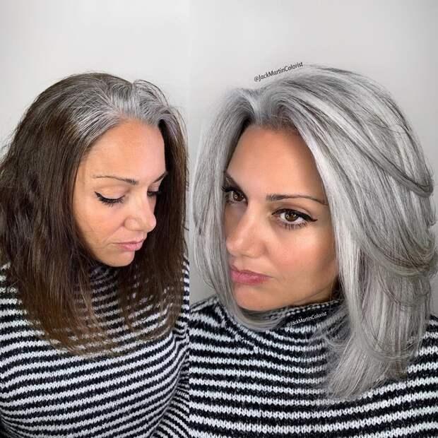 12 работ парикмахера, который делает седину красивой