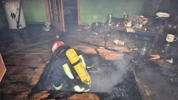 При пожаре в Киевской области погиб мужчина