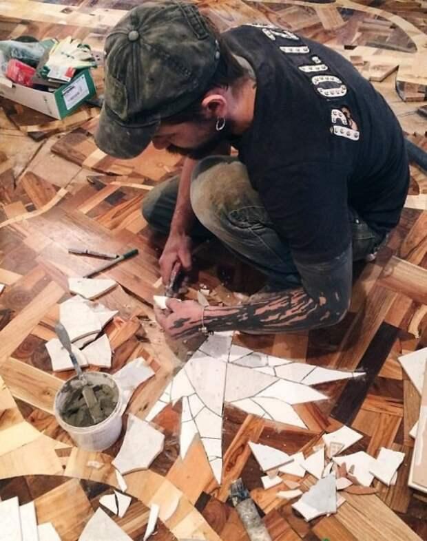 Парень собрал 40 мешков дров, но не стал топить печь, а создал невероятную красотищу!