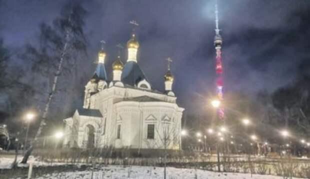 Храм Святой княгини Ольги в Останкине теперь виден издалека