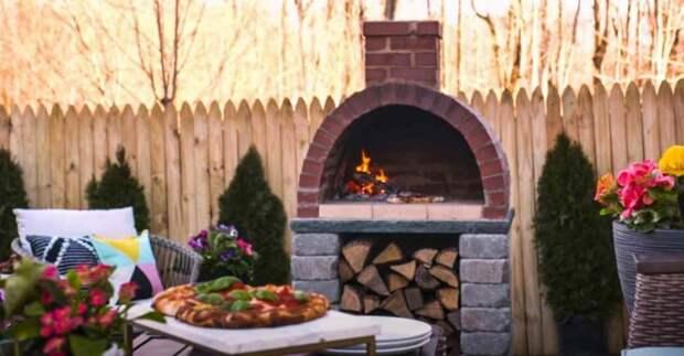 Как построить уличную кирпичную печь для пиццы