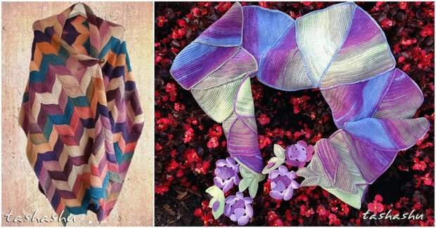 Невероятно красивые и изумительные шарфы Светланы Гордон, связанные спицами