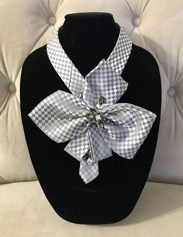 Женские галстуки из мужских (подборка)