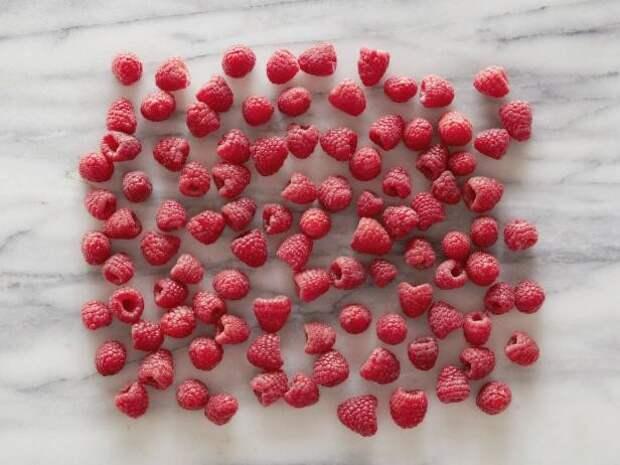 Малина 100 ягод = 100 калорий   еда, калории