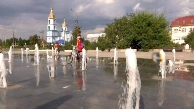 В Краснодаре на Стасова заработал перенесенный от «Авроры» фонтан