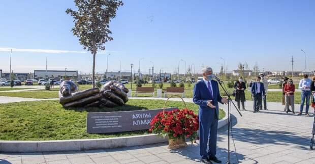 Памятник борющимся с коронавирусом медикам появился в Талдыкоргане
