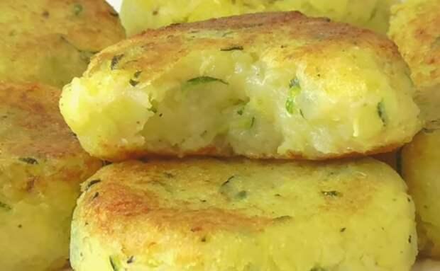 Котлеты из картофеля и кабачков: без муки и яиц. С тонкой хрустящей корочкой
