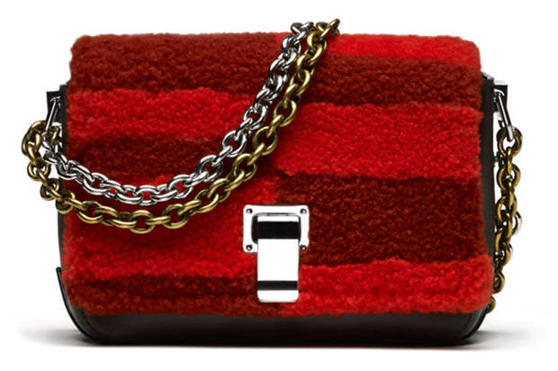 Модная меховая сумочка