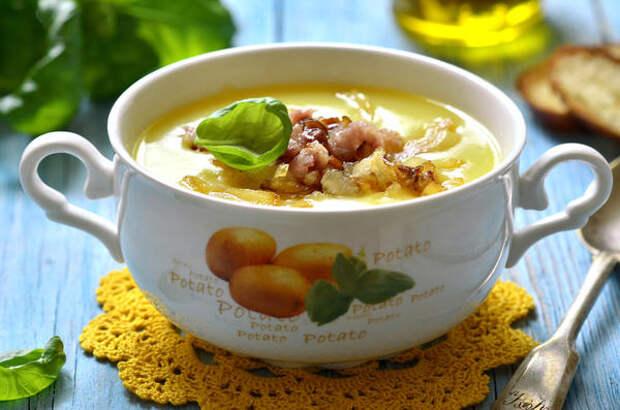 Суп-пюре с беконом на пиве