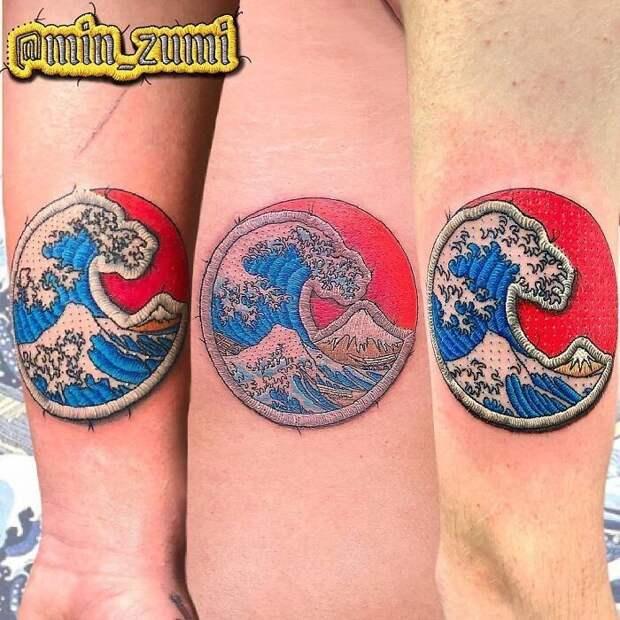 30 невероятно крутых татуировок, которые выглядят как нашивки