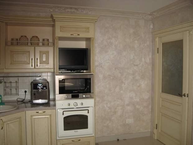 Отделка интерьера кухни декоративной штукатуркой