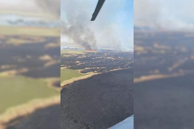 На Кубани из космоса обнаружили крупный пожар