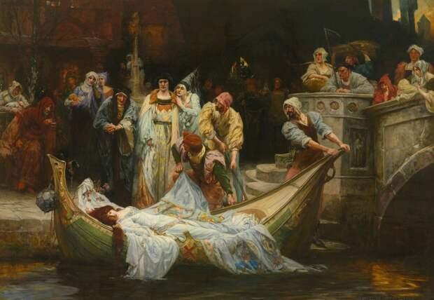 Джордж Эдвард Робертсон «Леди Шалотт», 1900 год