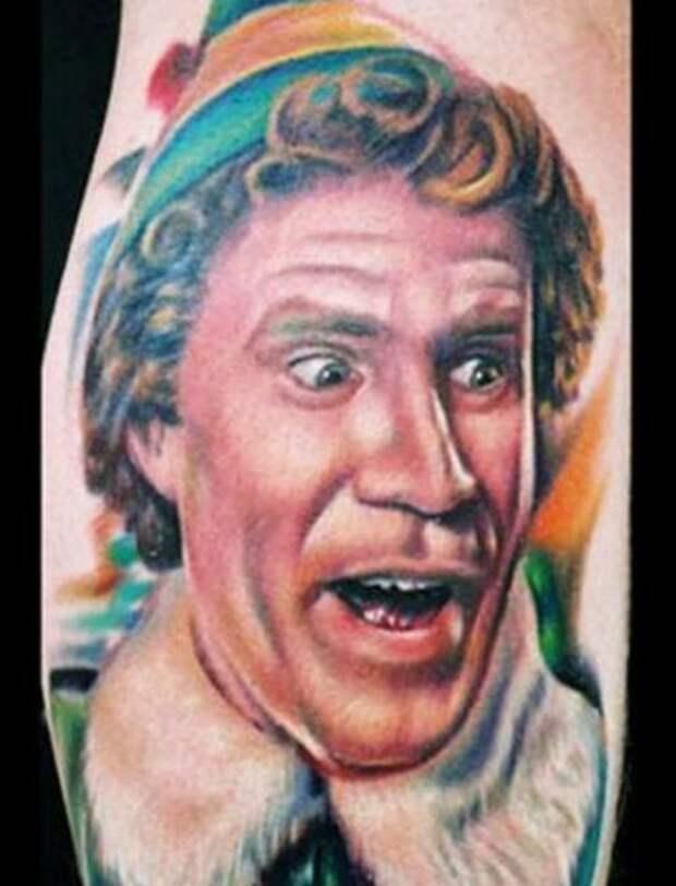 Забавные рождественские татуировки