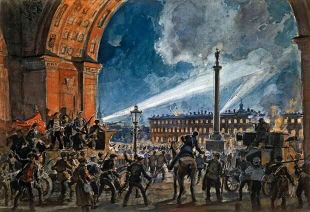 История мифа о штурме Зимнего Дворца
