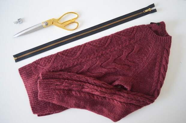 Переделка свитера с молнией (Diy)